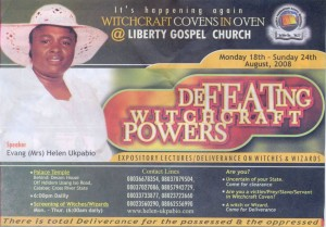 Helen Ukpabio - One of the most prominent evangalists promoting defeat of Child Witchcraft