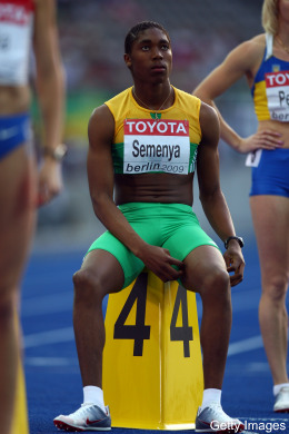 Semenya before the Race