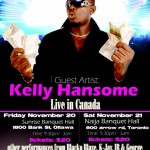 Kelly Handsome Live In Ottawa & Toronto | November 20th & 21st
