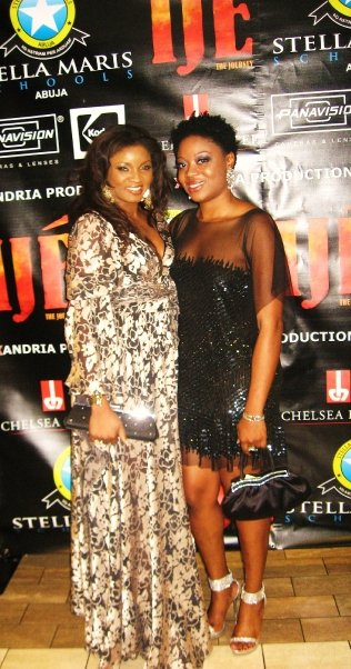 Omotola and Chineze Anyaene Executive Producer of the movie Ije.