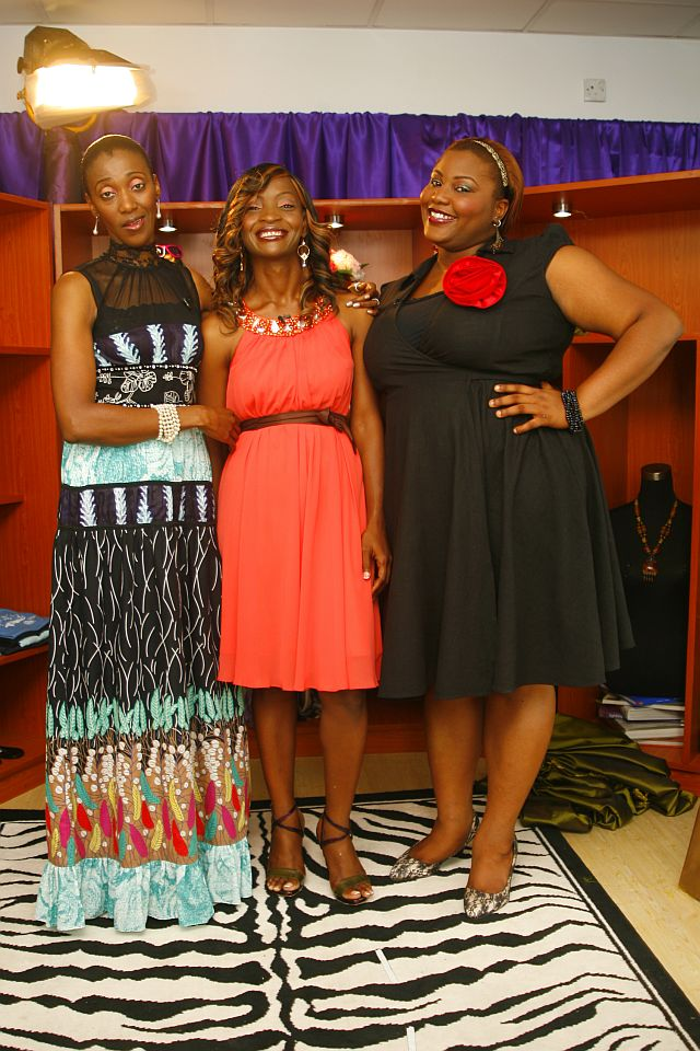 Kemi Olurinola with Isis and Wana