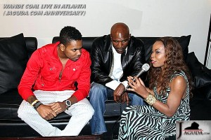 AJa Onu, Heavy Wieght Boxer Evander Holyfield and Harriet from AfroGist.Tv