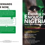 Enough Is Enough Nigeria | March On Abuja… March 16th 2010