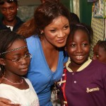 "Omotola Preaches ""Give And Let Give""… Pictures From Her Visit To SOS Children Village"