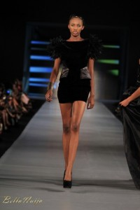 Naomi wearing House of Nwocha during ARISE Fashion Week 2012