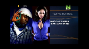 "VIDEO: ModeNine & Muna Exchanging Words @ ""Nokia Don't Break the Beat""  Competition"