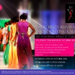 Music Meets Runway 2012 Model Casting Call