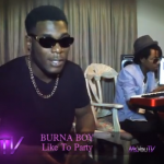 "VIDEO: Burna Boy Performs ""Like To Party"" On  MsYouTV"