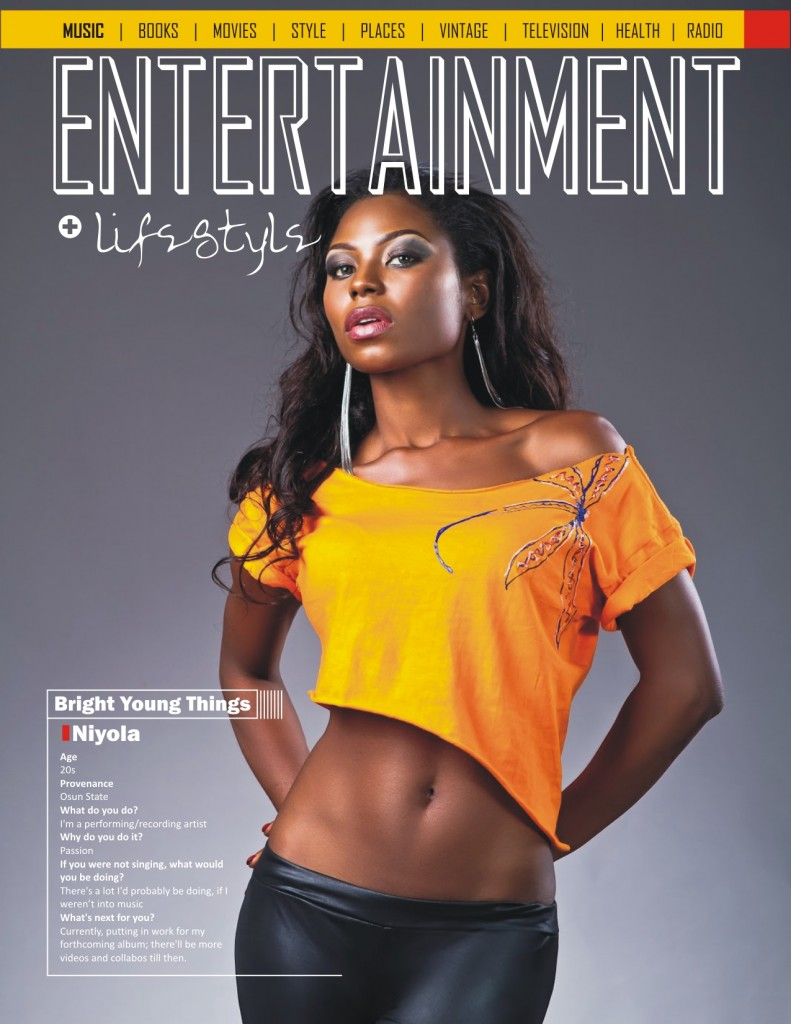 Niyola on the Entertainment page