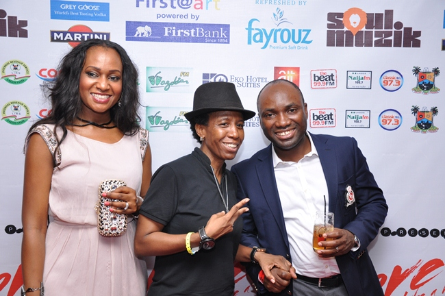 5 Nnenna Ifeibigh Hemeson, Senior Brand Manager Fayrouz, Weird MC and Samson Oloche, Marketing Manager Non-Alcoholic drinks NB