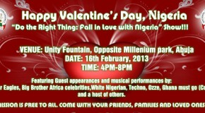 Do the right thing: Fall in love with Nigeria show!!!