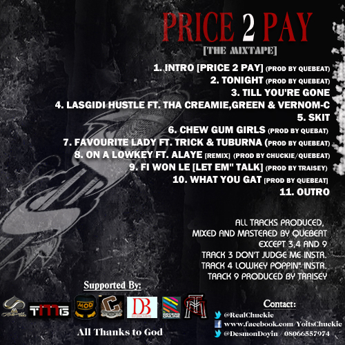 Chuckie - PRICE 2 PAY Artwork [Back Cover]