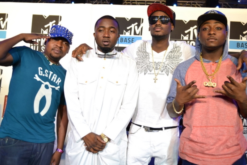 Professor, Ice Prince, 2Face & Davido (2)