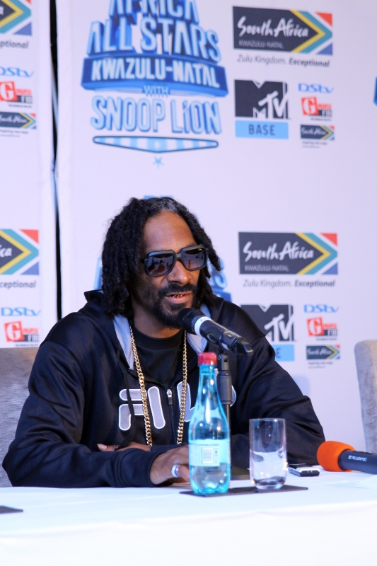 Snoop Lion at the MTV Africa All Stars press conference (2)