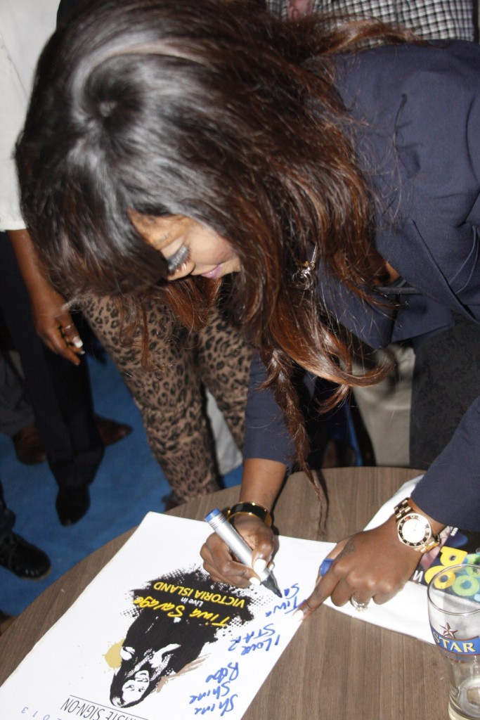 Tiwa Savage at Star Music the sign on conference