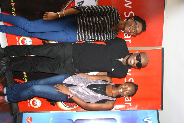 Tuface, Hannatu Brand mgr Nigerian Breweries and Ticket winner