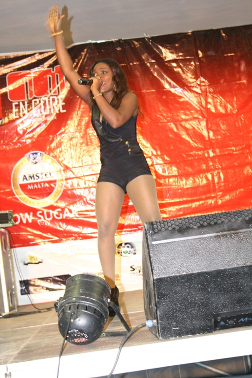 Young Grace performing