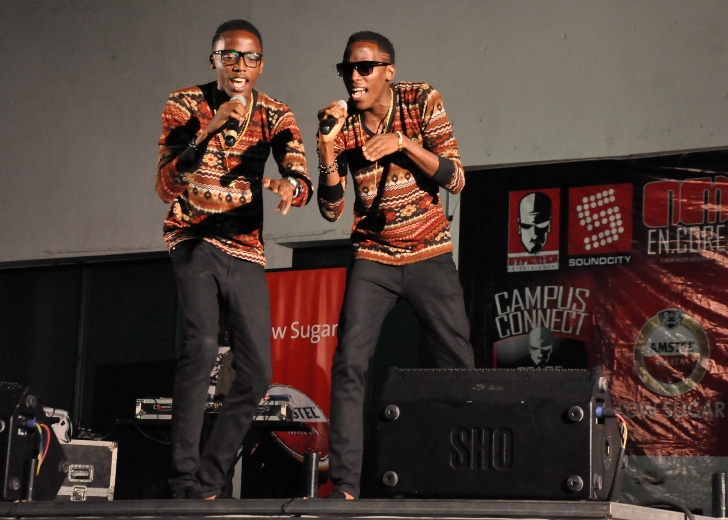 AmstPix 7 Taiwo And Kehinde Oshodi (Same) Winners Of The Amstel Malta Show Time, On Stageel