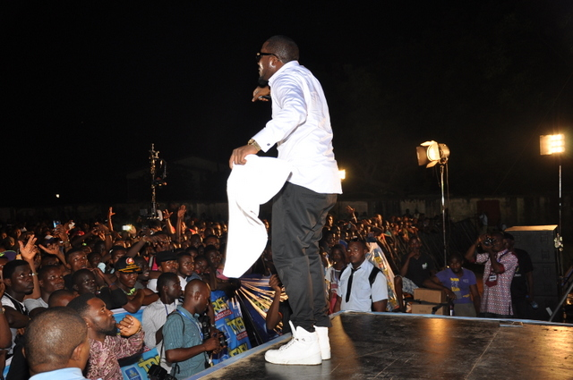IcePrince performing at the Star Music Trek. 2013 Festac concert JPG