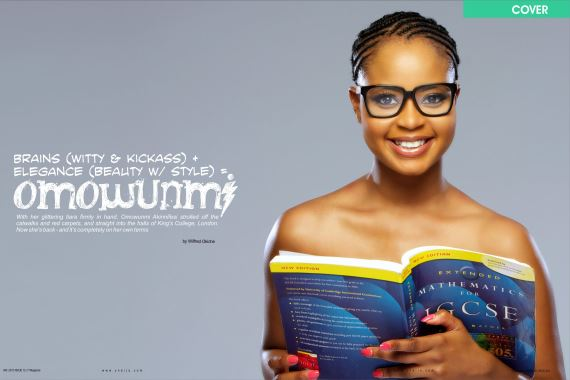 Inner pages cover Omowunmi Y! Magazine