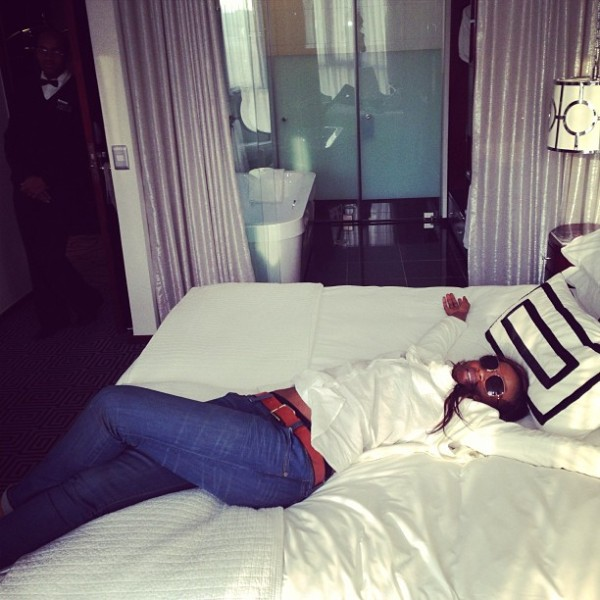 Seyi Shay At The Hotel Before Rehearsals