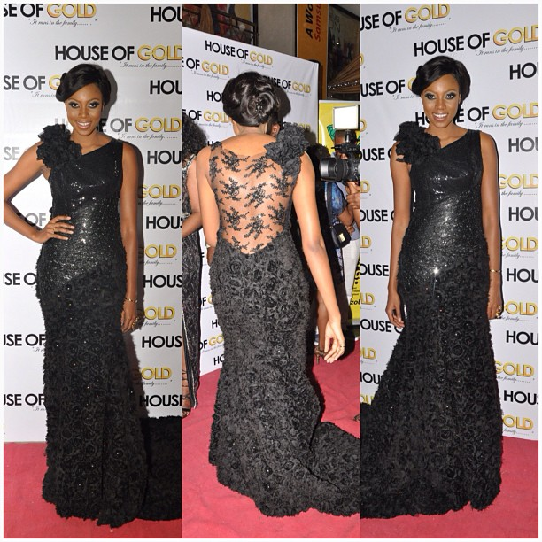Yvonne Nelson In Mai Atafo Inspired Dress