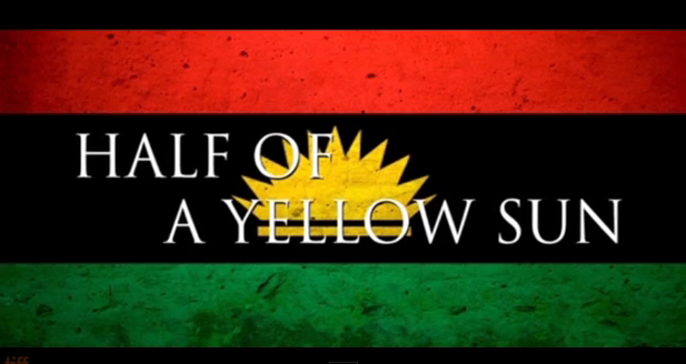 Half of a yellow sun trailer