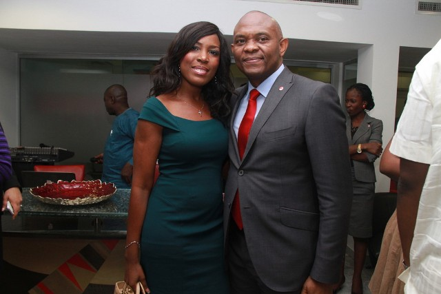 Linda Ikeji and Tony Elumelu