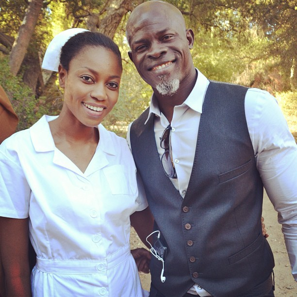 Yvonne-Nelson-Movie-Djimon-Hounsou