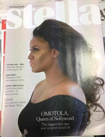 omotola on stella mag uk