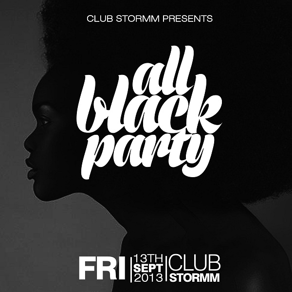 CLUB STORMM - ALL BLACK PARTY 1