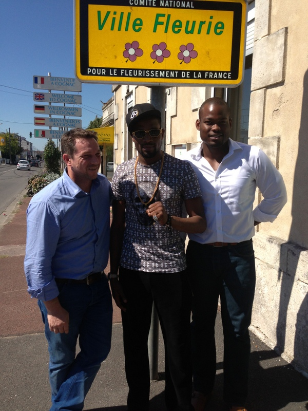 David Hourdry, Dbanj and Lere Awokoya in France