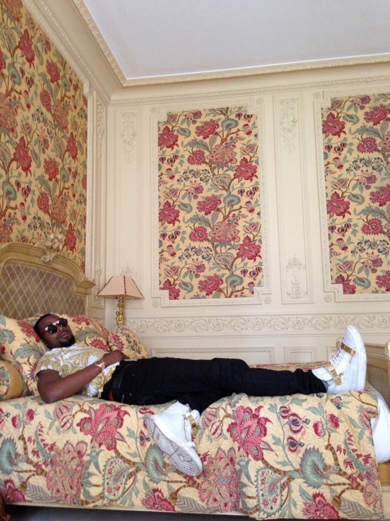 Dbanj in his room