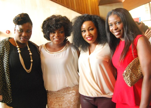 Funke Akindele and Rita Dominic with friends