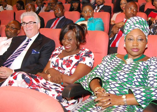 Keith Richard, Joke Silva and Ms Fayemi