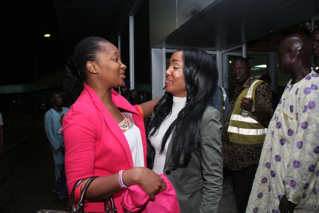Miss Kenya been welcomed by Ethel Okosun,the Project Director.