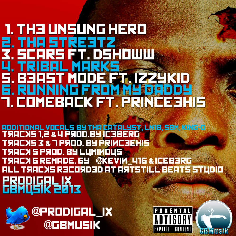 Prodigal IX - Scars EP (back)