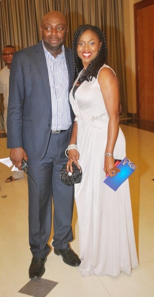 Segun Arinze & Wife, Julie