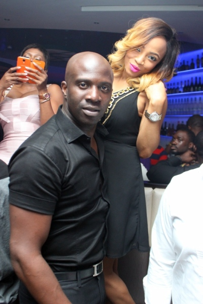 Toke Makinwa and fiance Maje Ayida