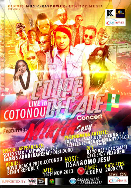 Kennis Music Presents Coupe Decale Concert