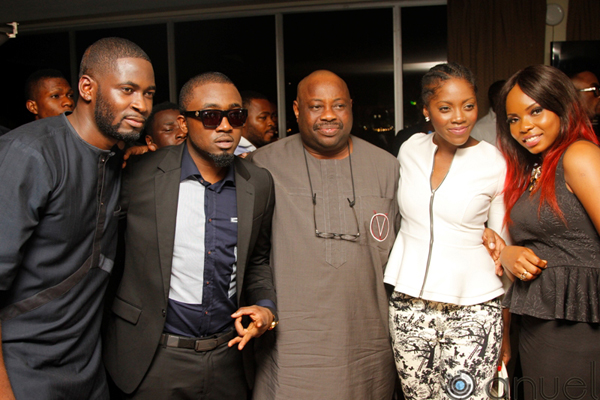 VIP-Launch-Tee-Bliz-Ice-Prince-Dele-Momodu-Tiwa-Savage-and-Yemi-Alade