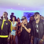 "Photos: Banky W, WizKid & Akon On Set Of ""Roll It"" Video Shoot"