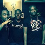 Photo: D'banj, Olamide And Don Jazzy Record With American Rapper, Wale In Lagos