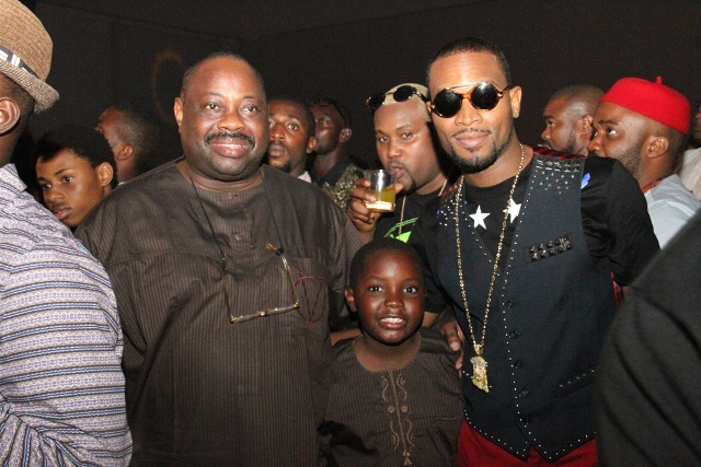 Dele Momodu, his Son and D'Banj