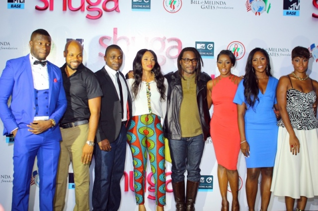 Shuga cast and the Director, Biyi Bandele