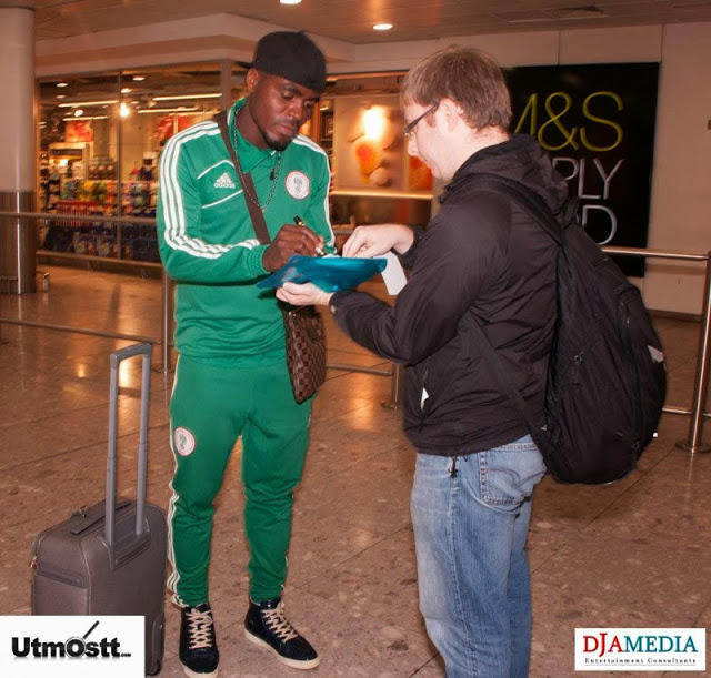 Super Eagles Arriving at Heathrow -1