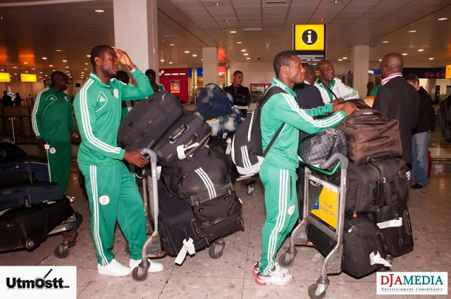 Super Eagles Arriving at Heathrow -23
