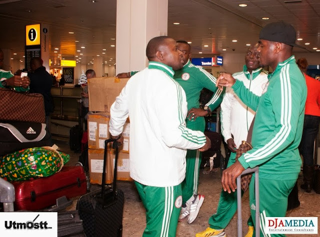 Super Eagles Arriving at Heathrow -30