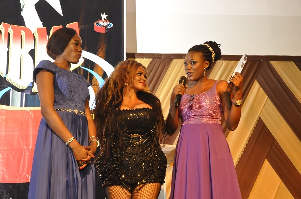 Cossy presenting an award to the winners