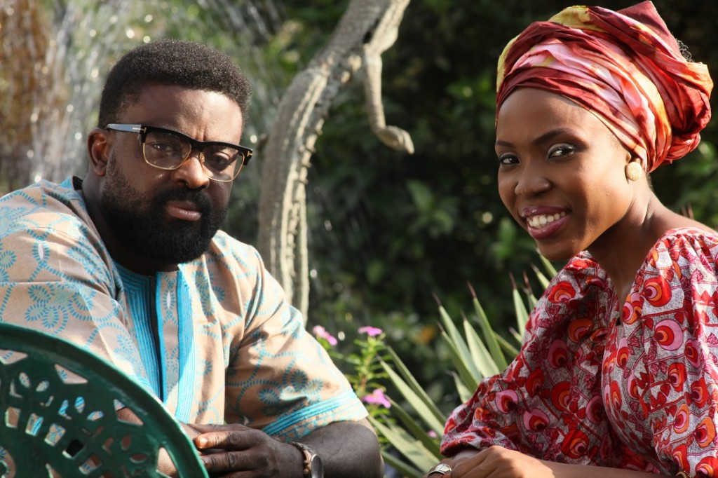 Lala and Kunle Afolayan on set -